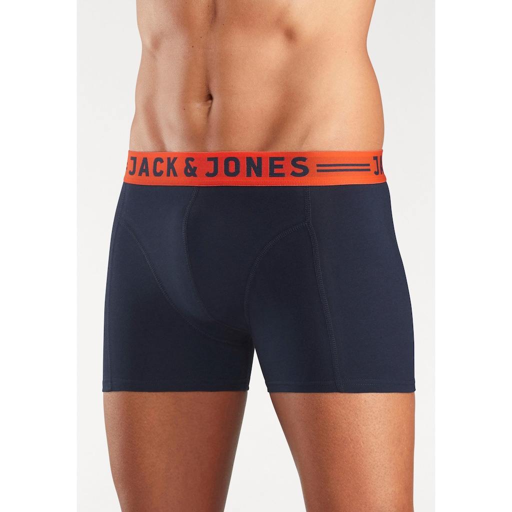 Jack & Jones Boxer »JAC Lichfield Trunks«, mit kontrastfarbigem Bund