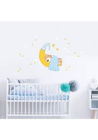 Wall - Art Wandtattoo »Bärchen Mond Leuchtsterne« (1 Stück) kaufen