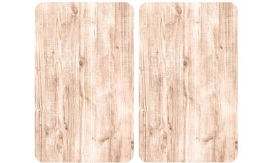 WENKO Herd-Abdeckplatte »Natural Look«, (Set, 2 tlg.), für alle Herdarten kaufen