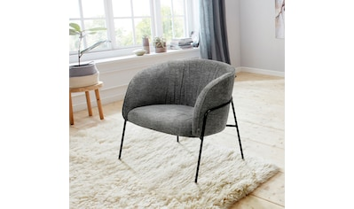 andas Loungesessel »Selmer«, aus schönem Metallbeingestell und trendigem anthrazitfarbenen Webstoffbezug kaufen
