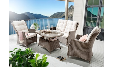 Destiny Loungeset »Casa«, (11 tlg.), 2 Sessel, Sofa, Tisch, Alu/Polyrattan, inkl. Auflagen kaufen