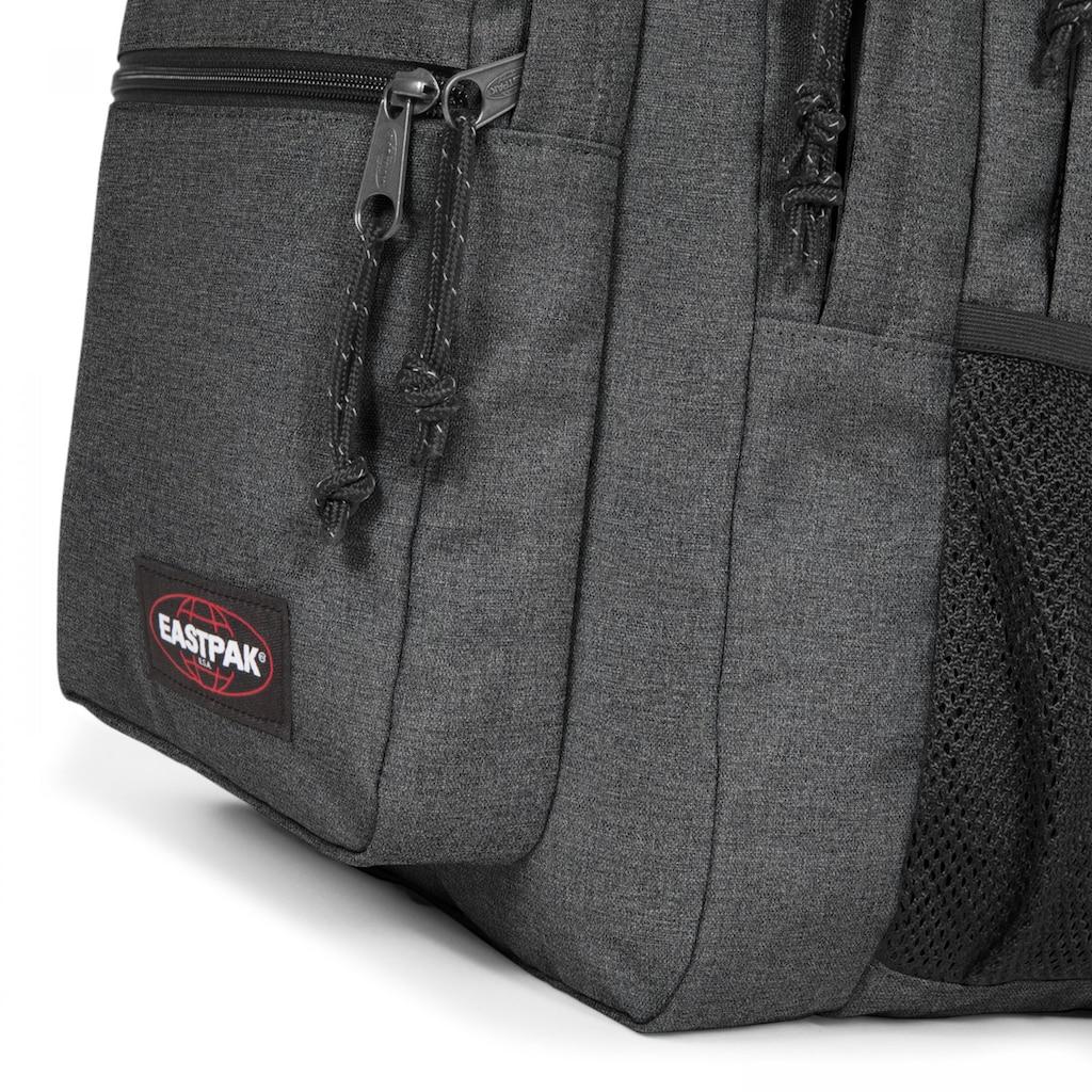 Eastpak Laptoprucksack »MORIUS, Black Denim«, enthält recyceltes Material (Global Recycled Standard)