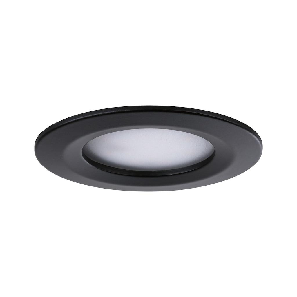 Paulmann LED Einbaustrahler »3er-Set Nova rund starr 3x6,5W Warmweiß Schwarz/Matt«, 3 St., Warmweiß