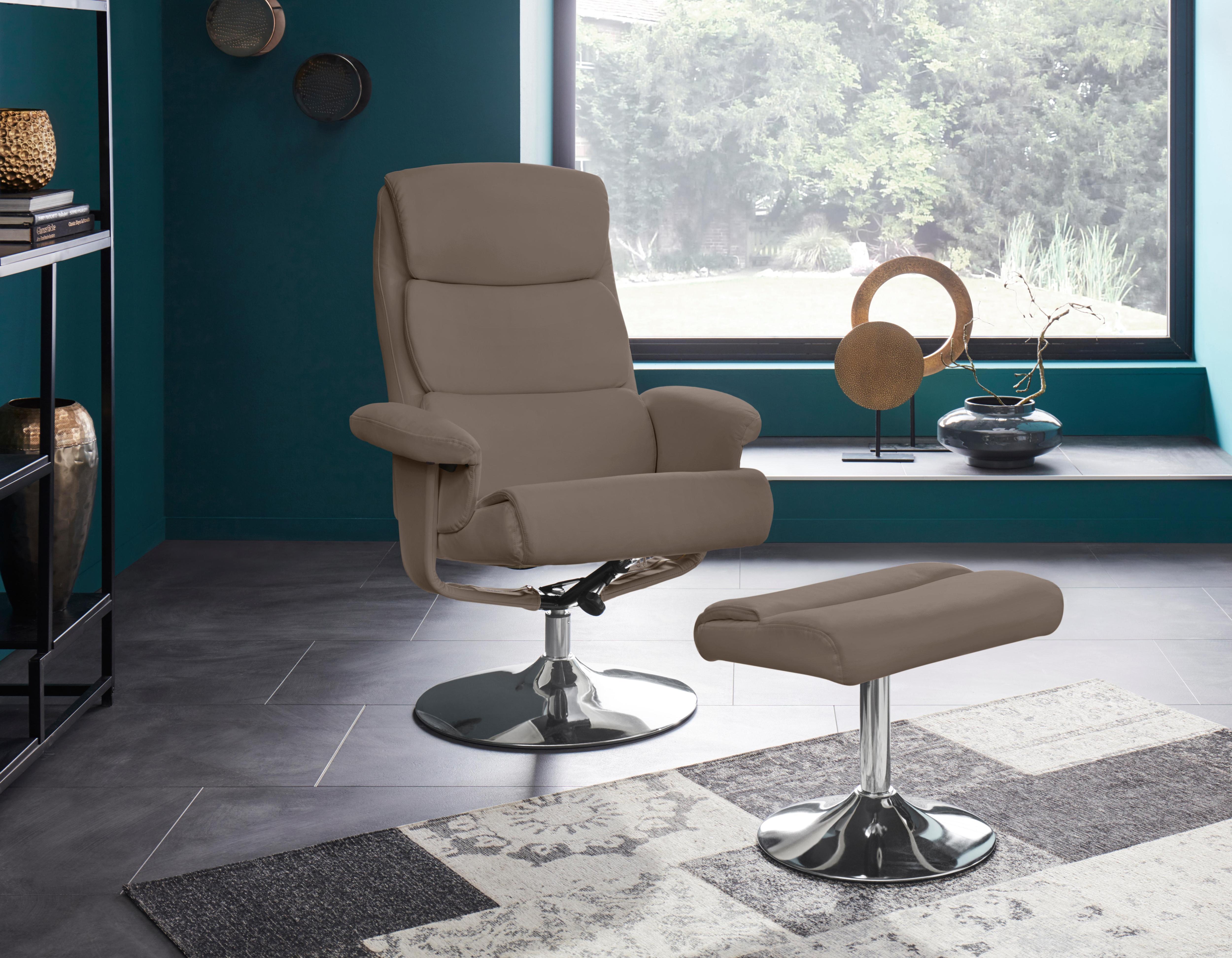 Places of Style Relaxsessel mit Hocker Boston mit vielen Funktionen in zwei verschiedenen Bezugsqualitäten verfügbar