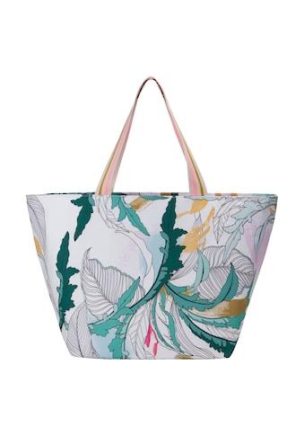 Codello Canvas - Shopper mit dekorativem Blätter - Print kaufen