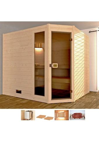 weka Sauna »Lars Trend Eck 3«, 9 kW Ofen mit int. Steuerung kaufen