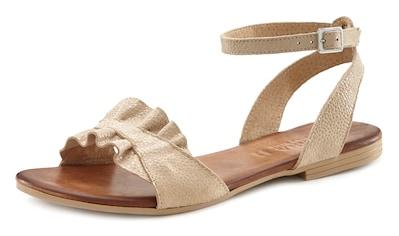 LASCANA Sandale, aus Leder mit Rüschen kaufen