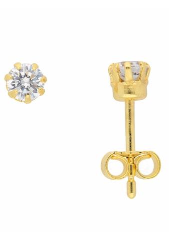 Adelia´s Paar Ohrstecker »333 Gold Ohrringe / Ohrstecker mit Zirkonia Ø 4 mm«,... kaufen