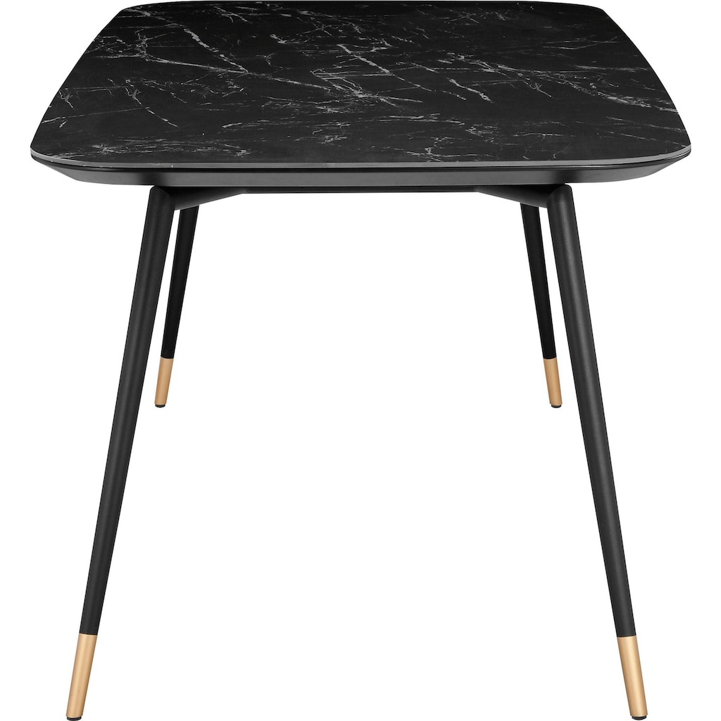 andas Esstisch »Stege«, in Marmoroptik, rechteckige Tischplatte, Design by Morten Georgsen
