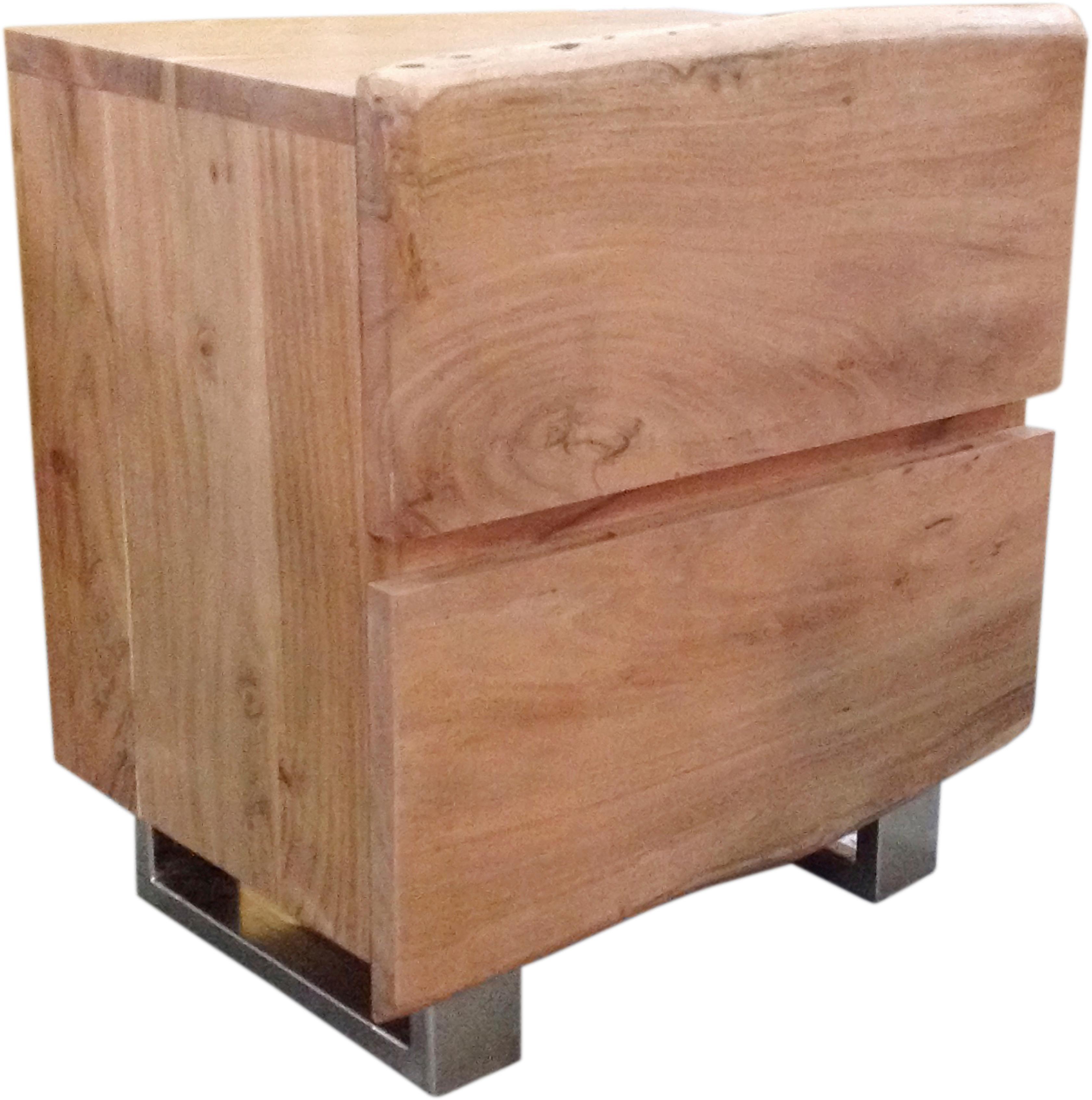 SIT Nachttisch Albero massive Akazie mit Baumkante   Schlafzimmer > Nachttische   Sit