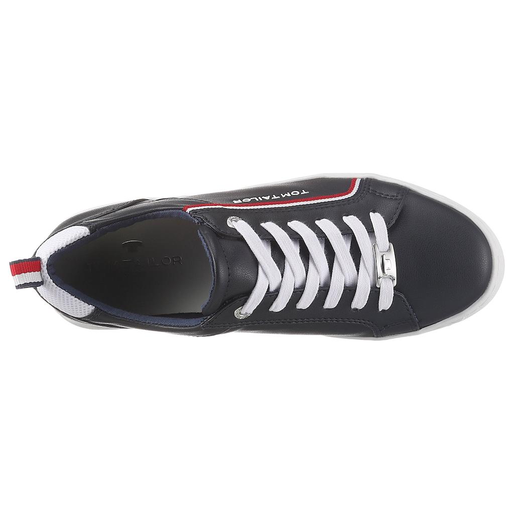 TOM TAILOR Sneaker, mit Textilbesätzen