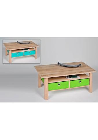 PRO Line Couchtisch, rechteckig mit farbigen Faltboxen kaufen
