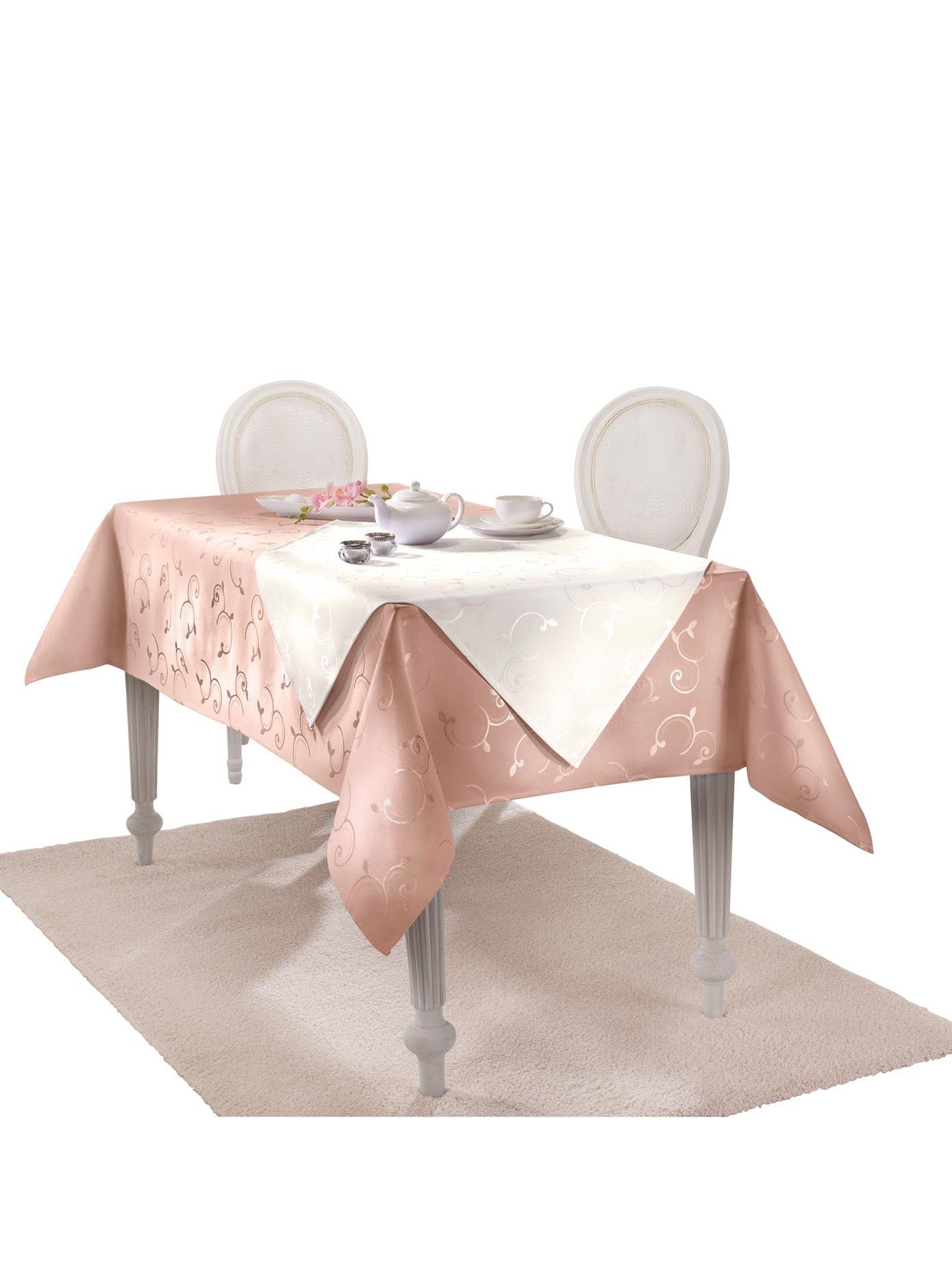 Dohle&Menk Dohle Tischdecke rosa Tischdecken Tischwäsche