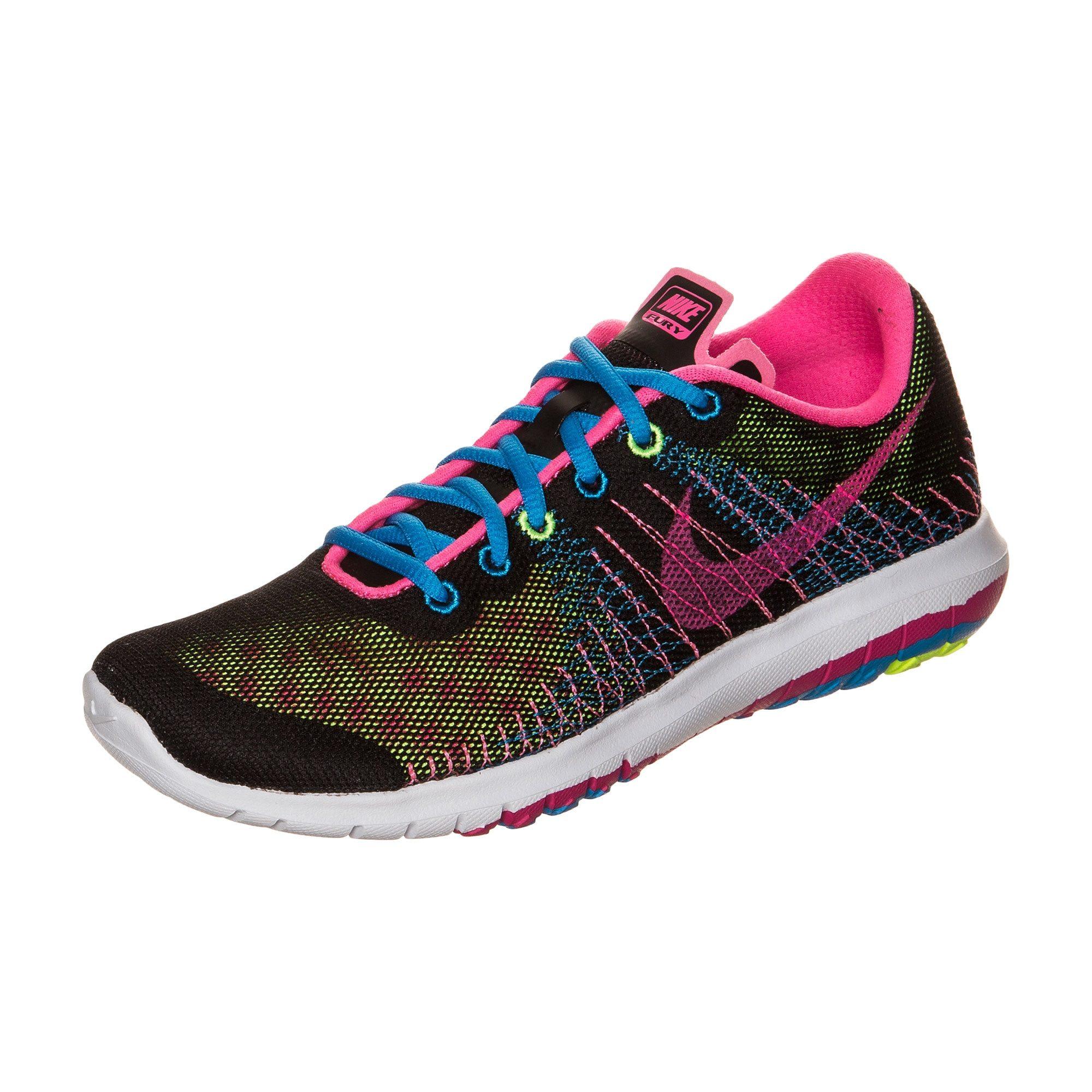 Nike Flex Fury Laufschuh Kinder, schwarz, Unisex