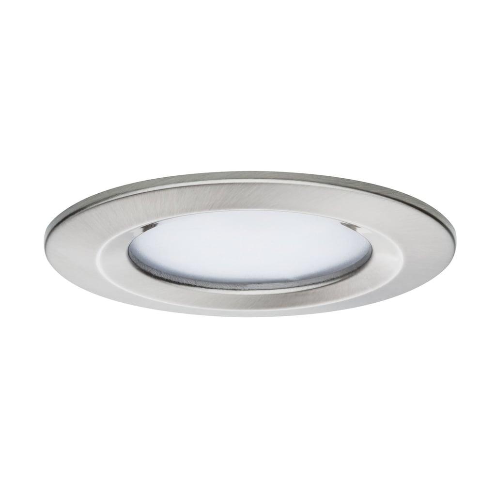 Paulmann LED Einbaustrahler »1er-Set dimmbar Coin Slim IP44 rund 6,8W Eisen«, 1 St., Warmweiß