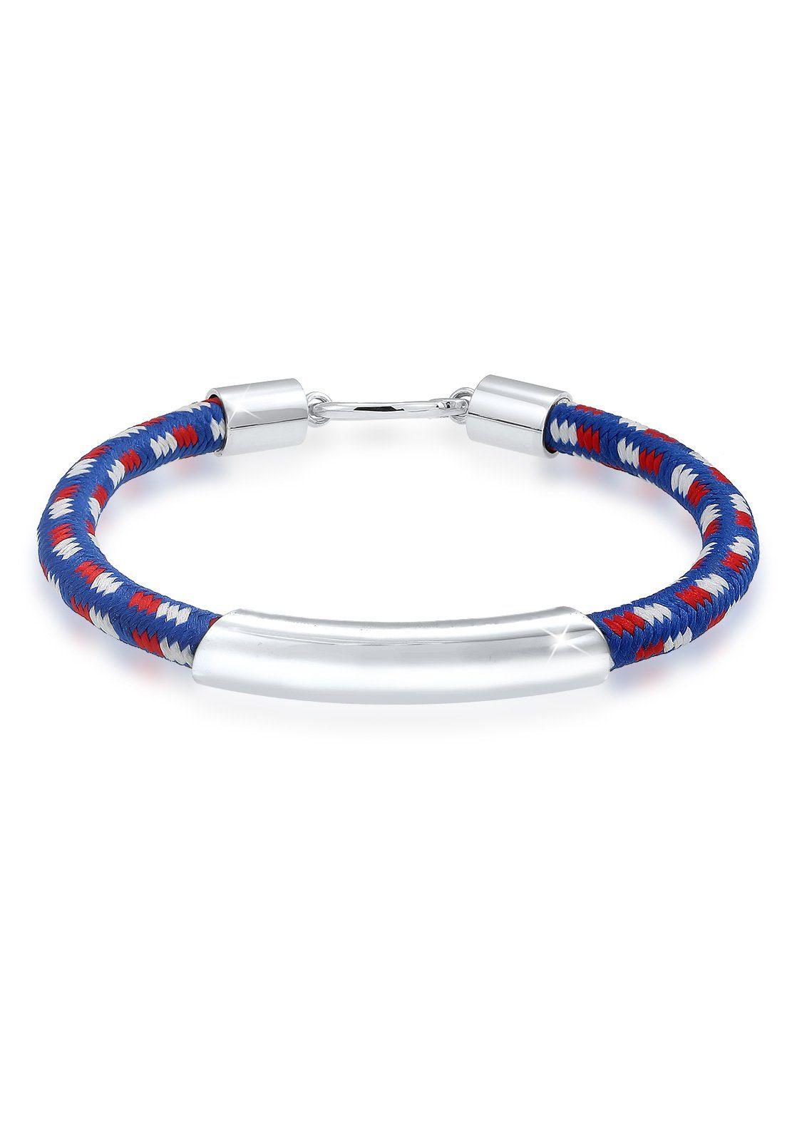 Paulo Fanello Armband Haken Basic Textil 925 Sterling Silber | Schmuck > Armbänder > Silberarmbänder | Paulo Fanello