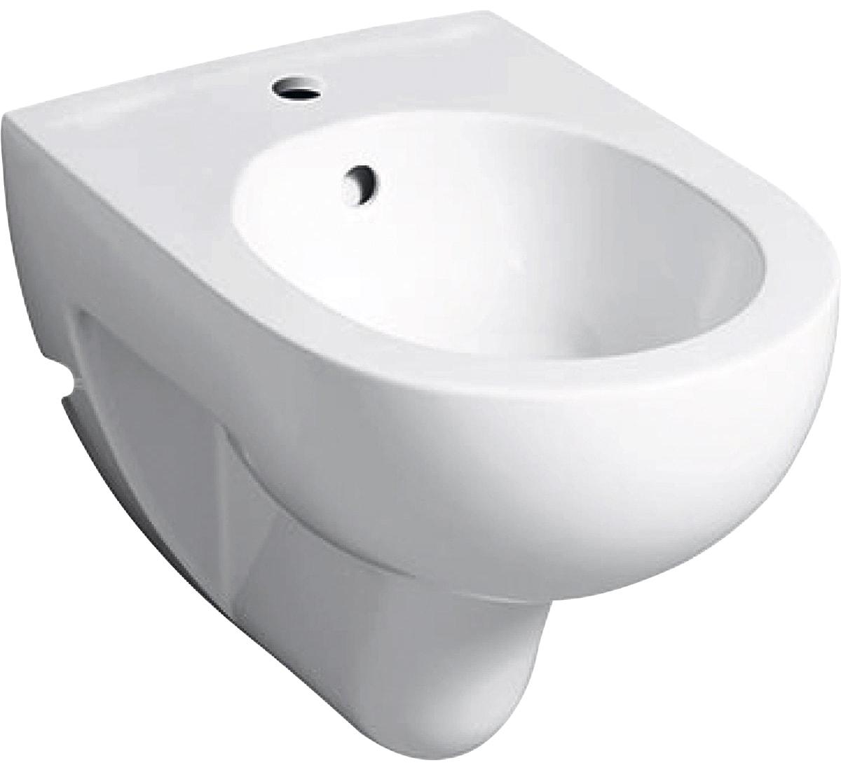 GEBERIT Bidet Renova Nr. 1, mit Überlauf, KeraTect weiß Bidets Bad Sanitär