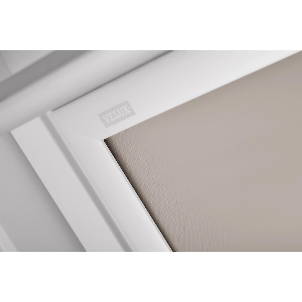 VELUX Verdunklungsrollo »DKL P04 1085SWL«, verdunkelnd, Verdunkelung, in Führungsschienen, beige