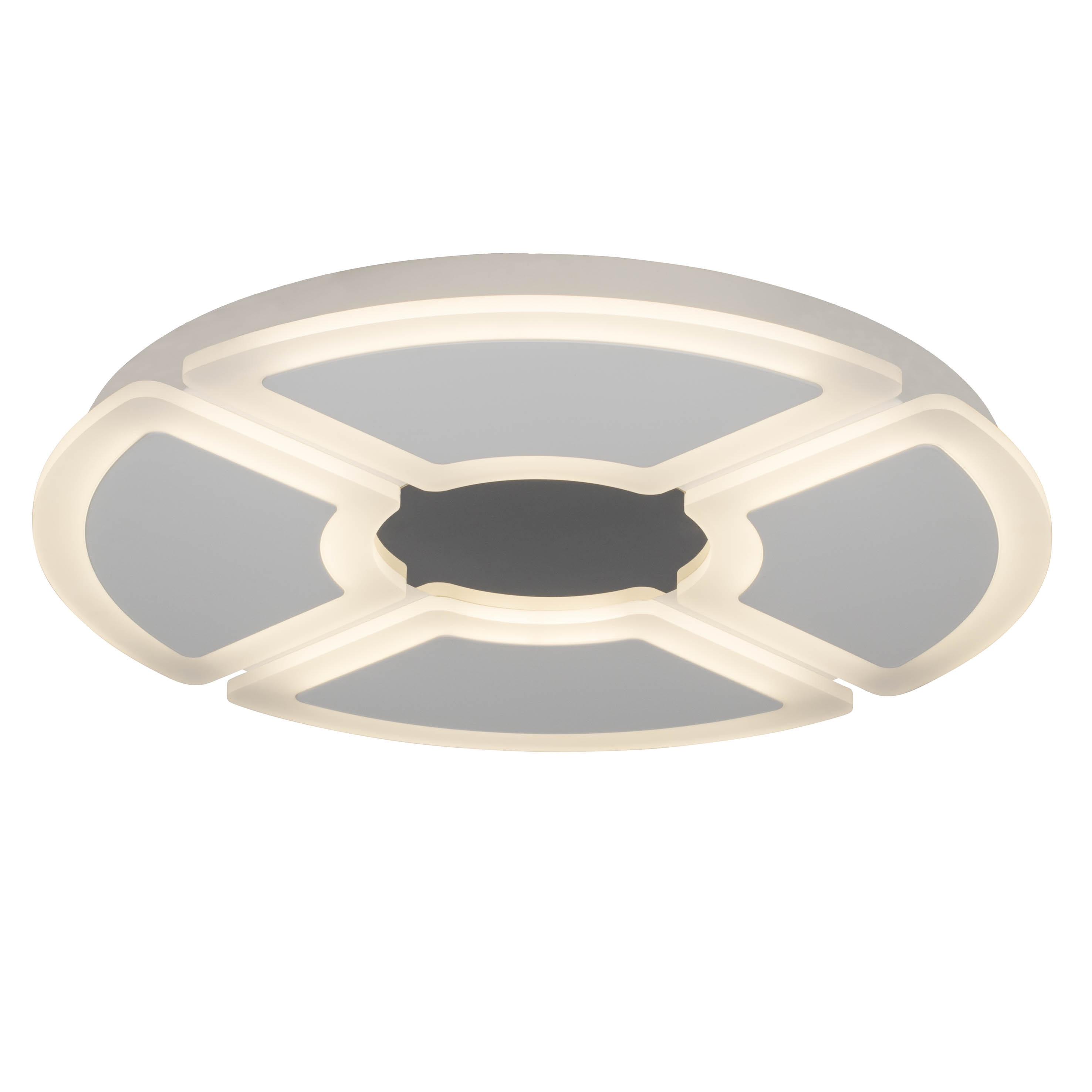 AEG Orv LED Deckenleuchte 60cm weiß/chrom