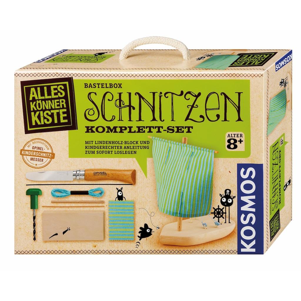 Kosmos Kreativset »AllesKönnerKiste Schnitzen Komplett Set«, (Set), Made in Germany