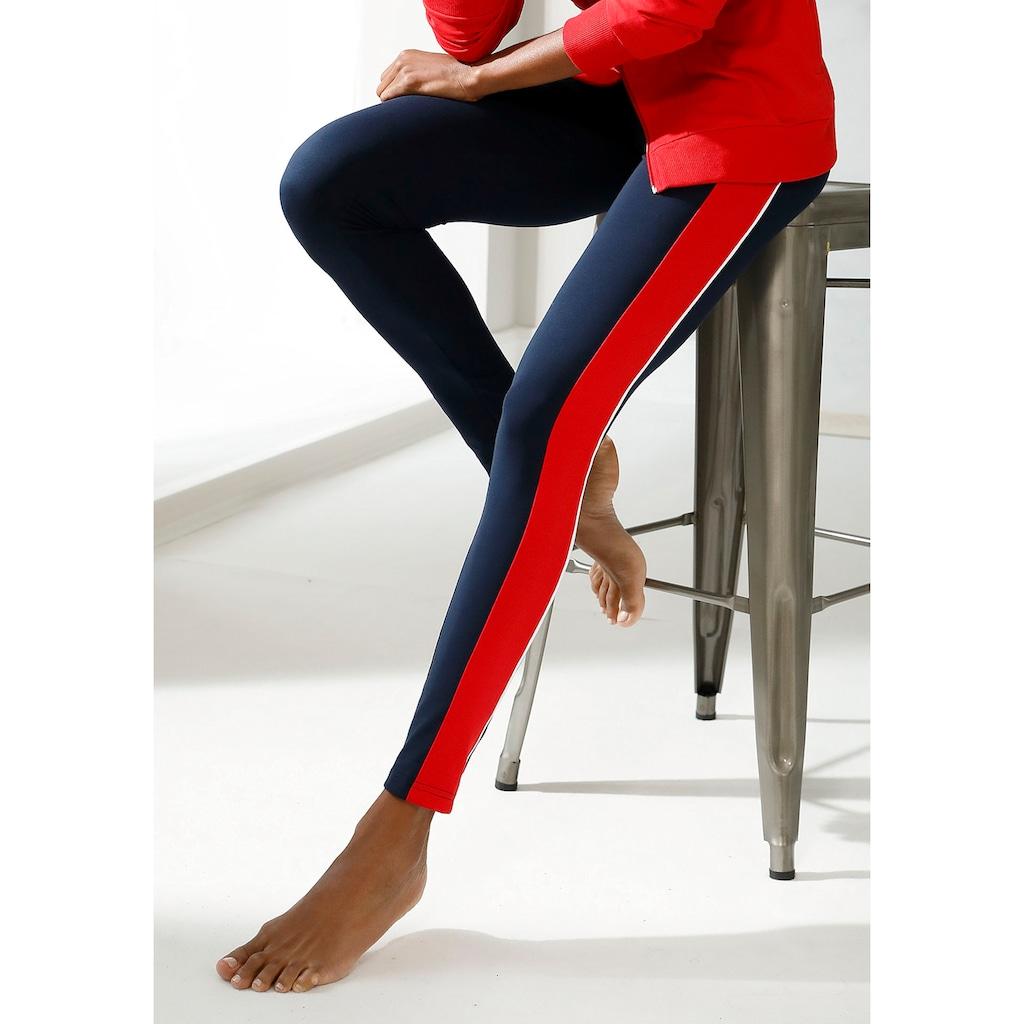 H.I.S Leggings, mit breiten Seitenstreifen