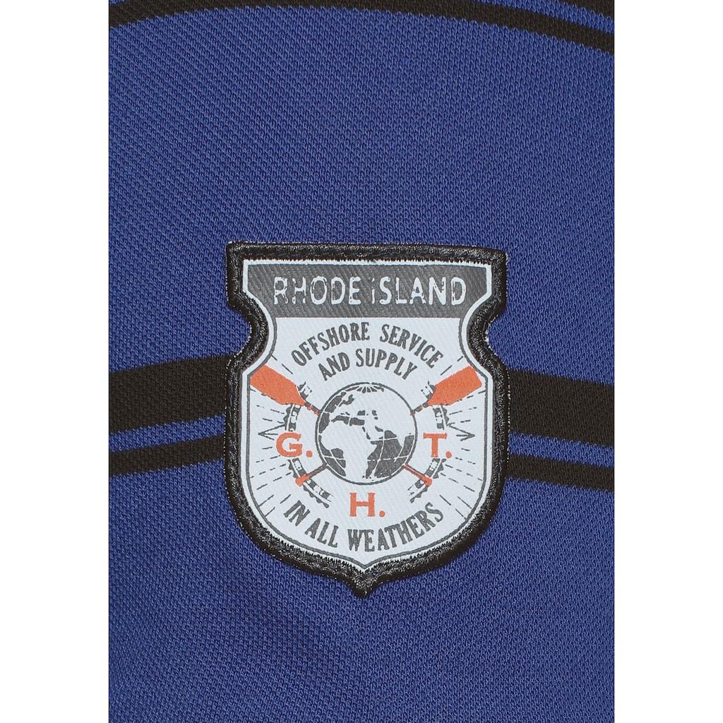 Rhode Island Poloshirt, mit Streifenmuster