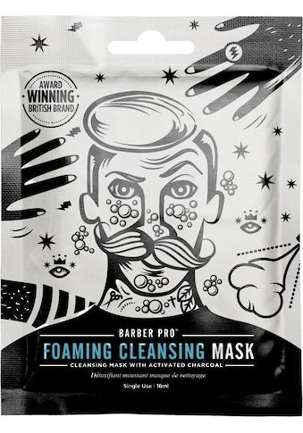 BARBER PRO Gesichtsmaske »Foaming Cleansing Mask«, selbstschäumende Vlies-Reinigungsmaske kaufen