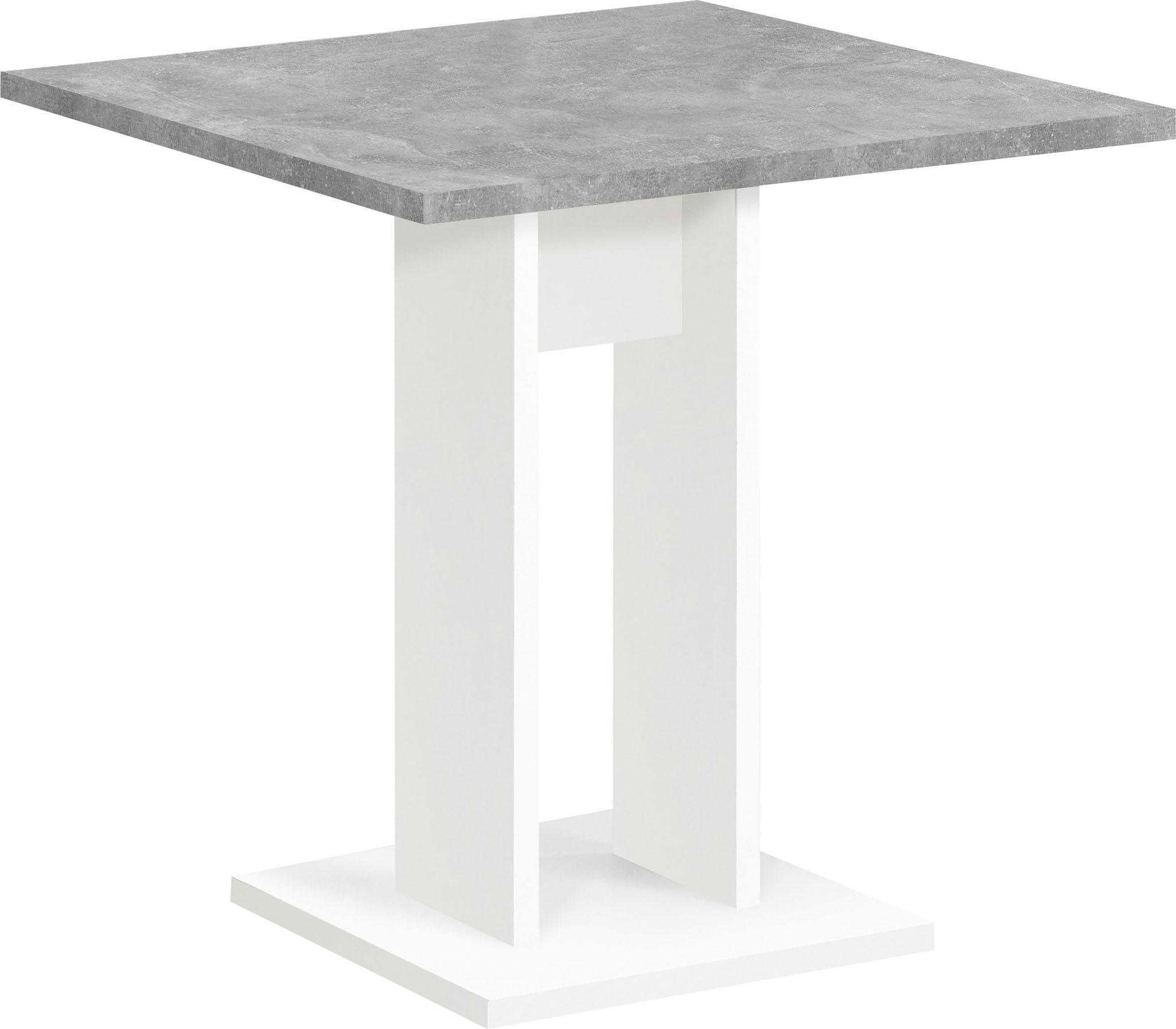 FMD Esstisch, Breite 70 cm grau Esstisch Esstische rechteckig Tische