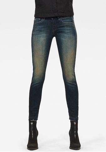 G-Star RAW Skinny-fit-Jeans »Lynn Mid Skinny rp Ankle«, mit leicht ausgefranster Kante am Saumabschluss kaufen