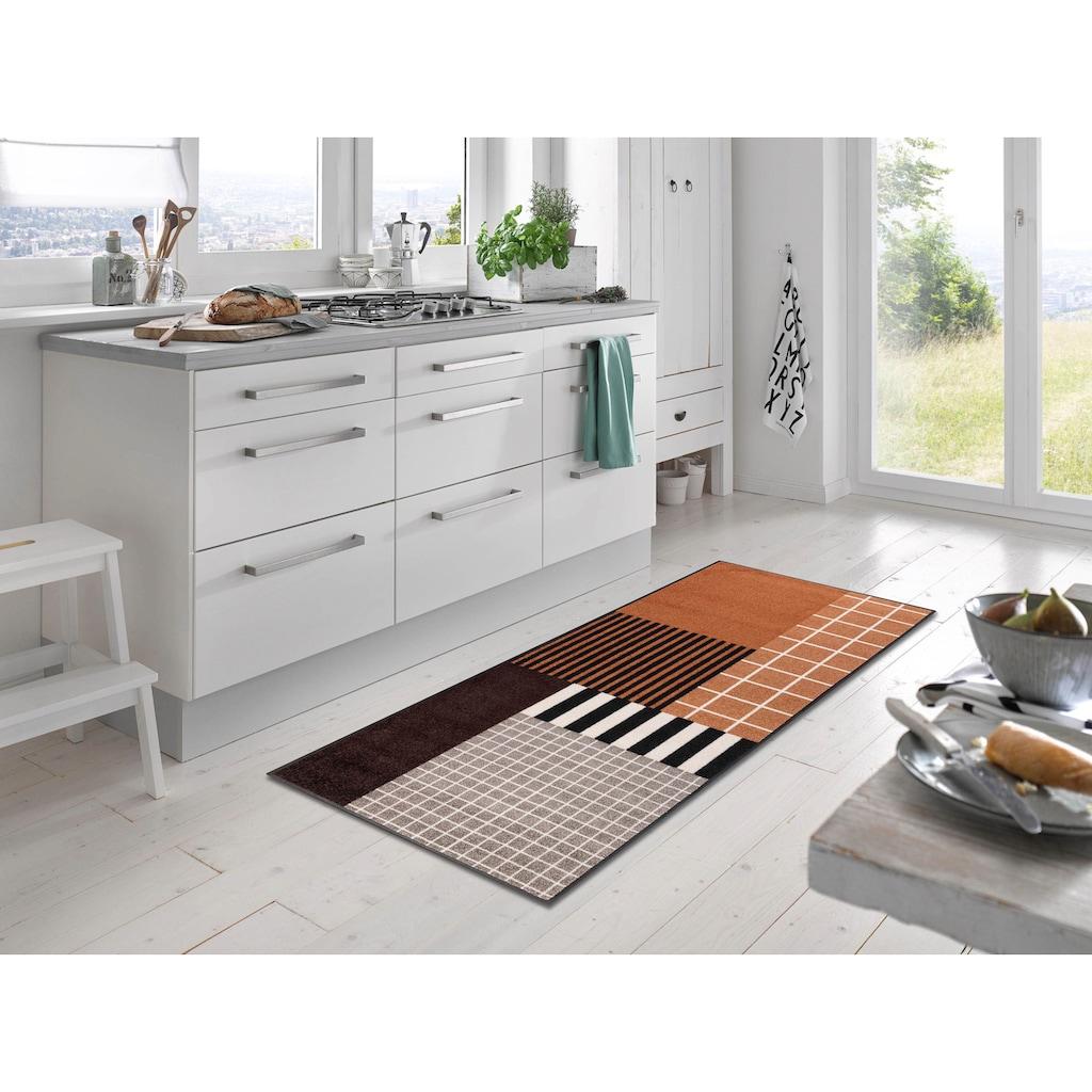 wash+dry by Kleen-Tex Läufer »Tastiera«, rechteckig, 7 mm Höhe, In- und Outdoor geeignet, waschbar
