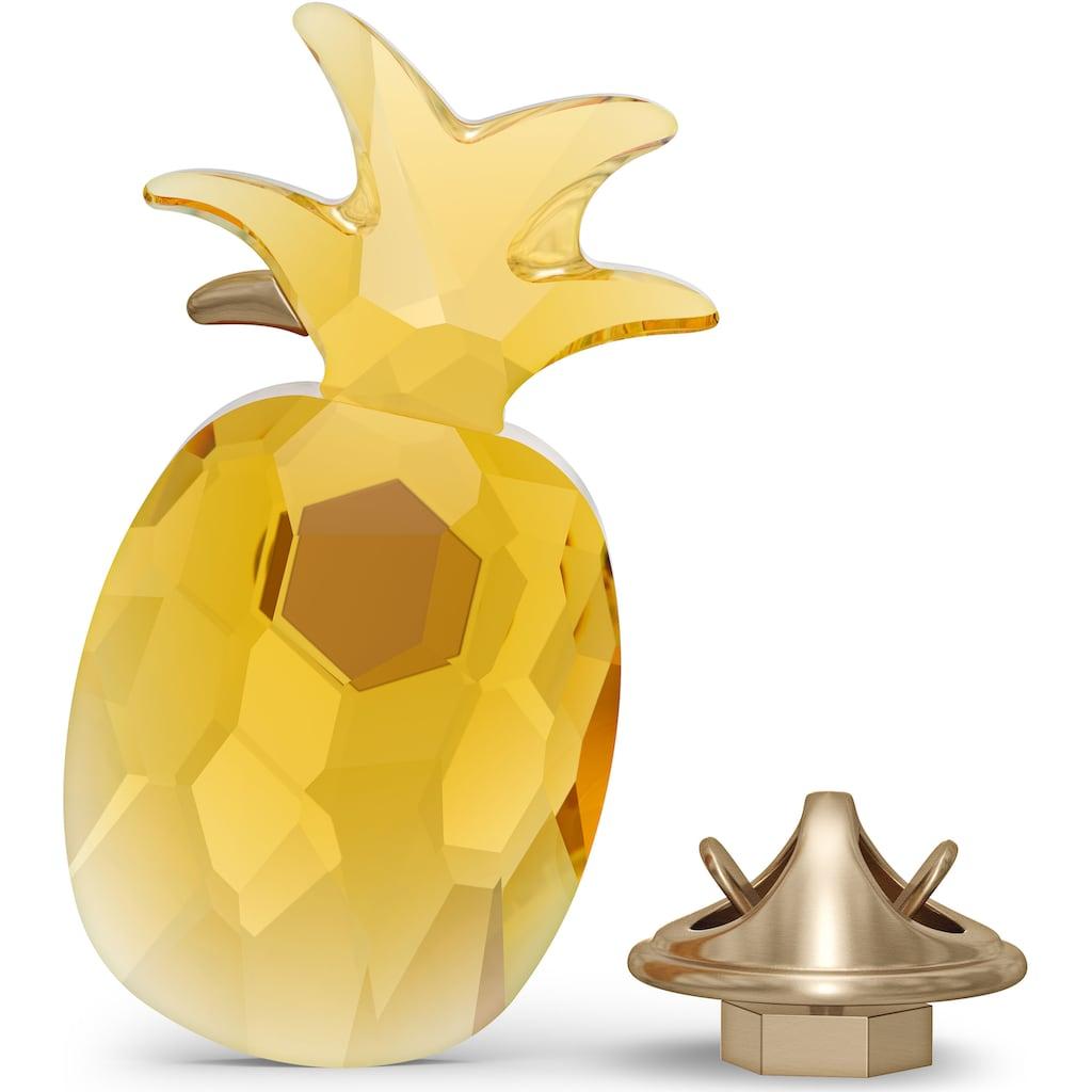 Swarovski Dekoobjekt »Jungle Beats Ananas Magnet, gelb, groß, 5572158«, Swarovski® Kristall