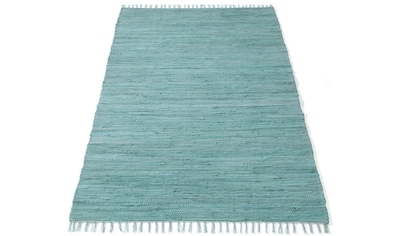 DELAVITA Teppich »Finni«, rechteckig, 4 mm Höhe, Wendeteppich mit Fransen, Wohnzimmer kaufen