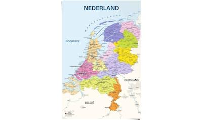 Reinders! Poster »Poster Schulkarte Niederlande Niederländisch - Niederländischer... kaufen