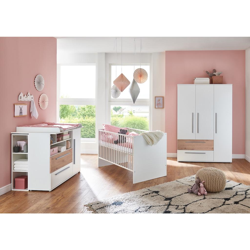 arthur berndt Babyzimmer-Komplettset »Rosanna«, (Set, 4 St.), Made in Germany; mit Kinderbett, Regal, Schrank und Wickelkommode