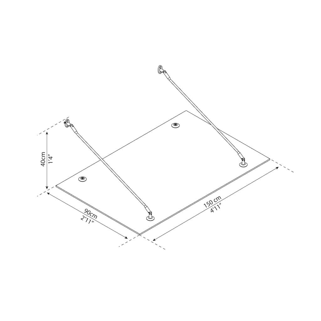 Palram Vordach »Trasparo 1500«, BxT: 150x90 cm