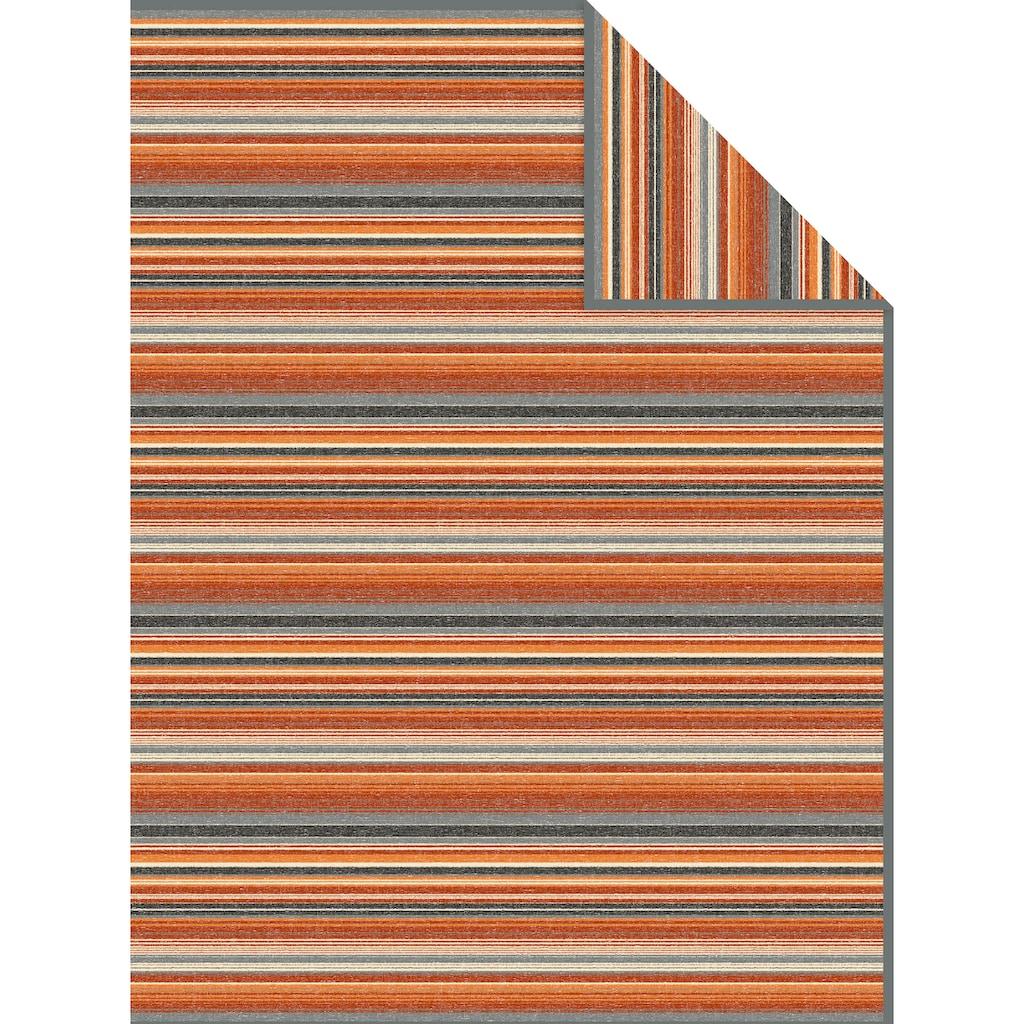 IBENA Wohndecke »Jacquard Decke Tijuana«, mit zarten Streifen