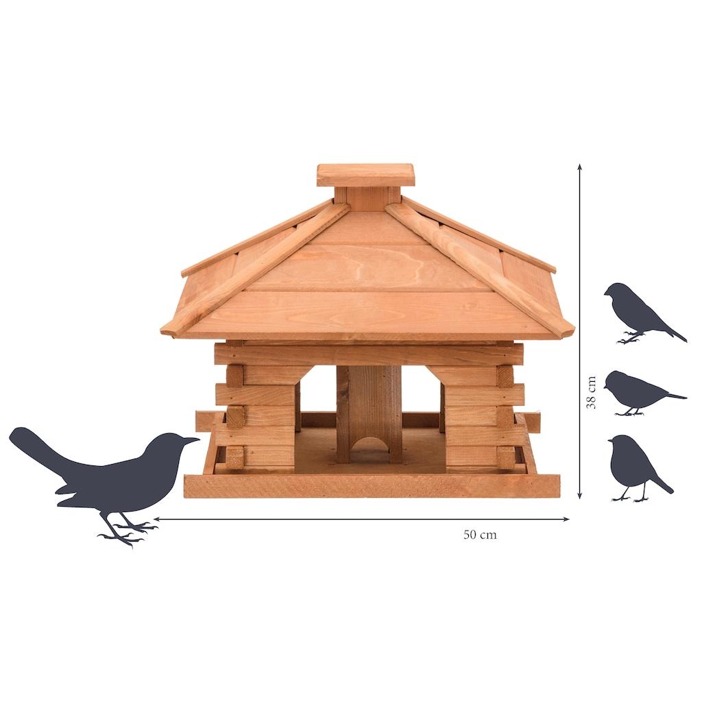 dobar Vogelhaus »Rustikal XL«, BxTxH: 50x50x38 cm