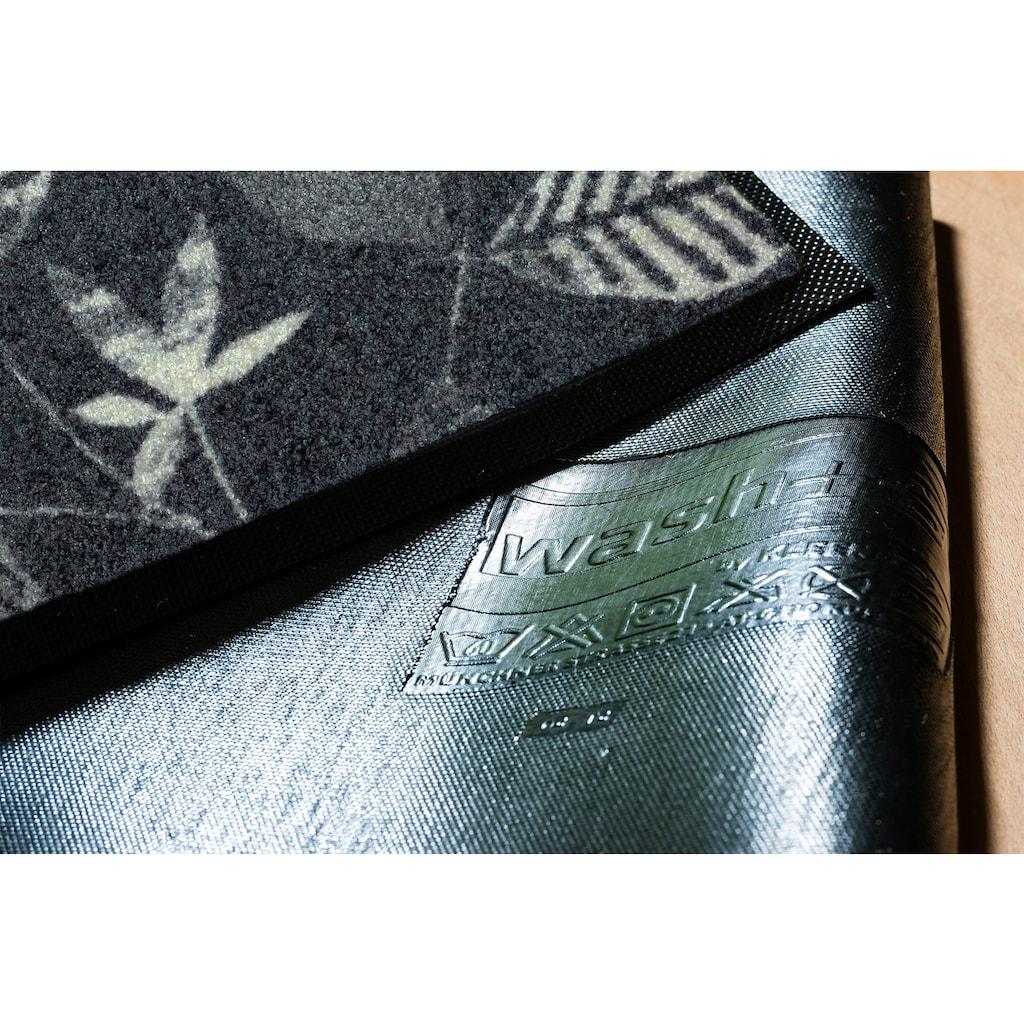 wash+dry by Kleen-Tex Fußmatte »Conflore«, rechteckig, 7 mm Höhe, Fussabstreifer, Fussabtreter, Schmutzfangläufer, Schmutzfangmatte, Schmutzfangteppich, Schmutzmatte, Türmatte, Türvorleger, In- und Outdoor geeignet, waschbar