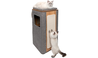VESPER Katzenhöhle »VP Cubo Tower«, BxTxH: 42,5x42,5x87 cm, grau kaufen