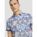 TOM TAILOR Kurzarmhemd »gemustertes Hemd aus Bio-Baumwolle«