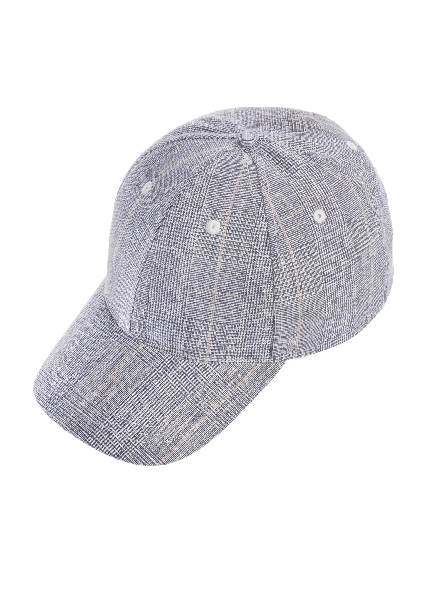 chaplino -  Baseball Cap, mit dezentem Karo-Muster