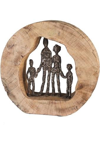 Casablanca by Gilde Dekofigur »Skulptur Familie«, Dekoobjekt, Höhe 28 cm, aus Metall... kaufen