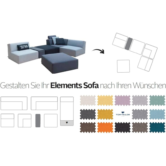 TOM TAILOR Sofa-Eckelement »ELEMENTS«