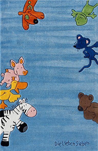 Kinderteppich LS-2195-01 Die Lieben Sieben rechteckig Höhe 10 mm handgetuftet