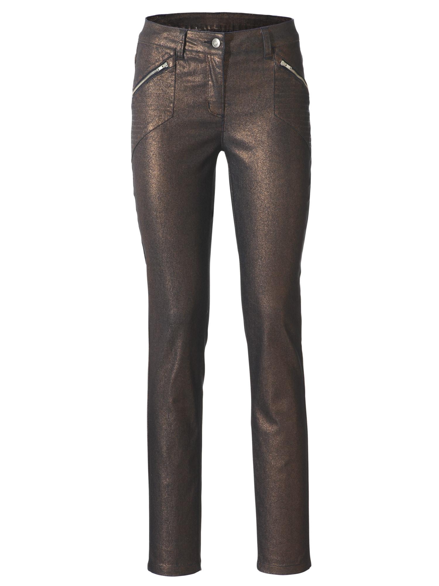 heine STYLE Push-up Jeans mit Glanzeffekt   Bekleidung > Jeans > Push-Up Jeans   Braun   heine