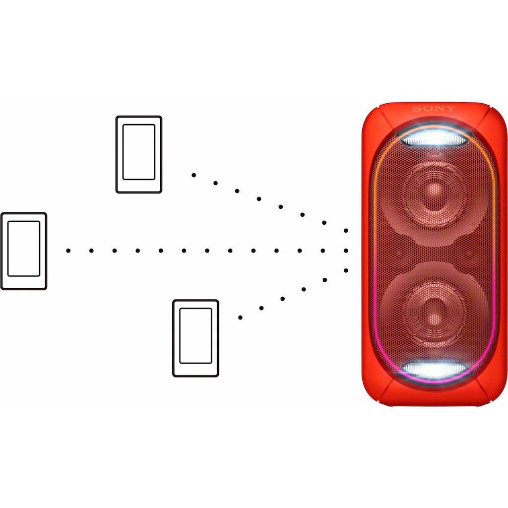 Sony Lautsprechersystem »GTK-XB60«, Wireless Party Chain: XB20 bis XB90 können zu einer Party Chain verbunden werden, Vertikaler & Horizontaler Sound Mode, mit handlichem Tragegriff