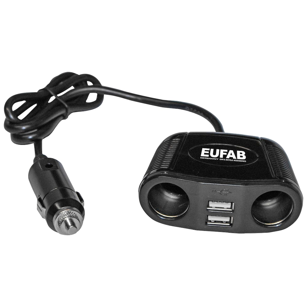 EUFAB KFZ Adapter 12 V, 4 in 1