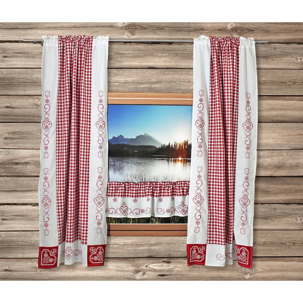 HOSSNER - ART OF HOME DECO Gardine »Kulm«, Landhaus-Look