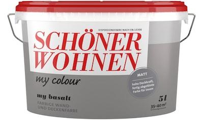 SCHÖNER WOHNEN FARBE Wand -  und Deckenfarbe »my colour  -  my basalt«, matt, 5 l kaufen