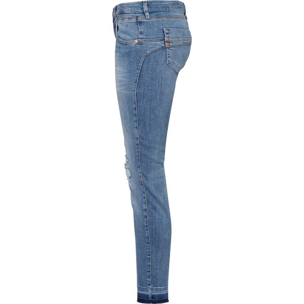 Herrlicher 7/8-Jeans »TOUCH CROPPED«, mit aufwendigen Destroyed-Effekten